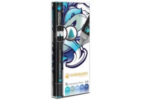 Chameleon маркеры набор 5 шт - Blue Tones (голубые тона) CT0513
