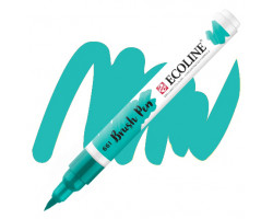 Ручка-кисть акварельная Ecoline Brush pen, № 661 Бирюзовая зеленая
