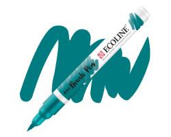 Ручка-кисть акварельная Ecoline Brush pen, № 640 Голубо-зеленый