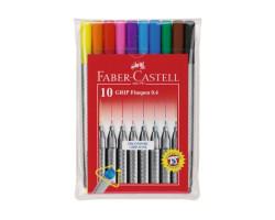 Линер Faber-Castell набор 10 цв Grip fine pen 0,4 мм - 151610