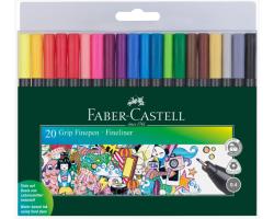 Линер Faber-Castell набор 20 цв Grip fine pen 0,4 мм 151620