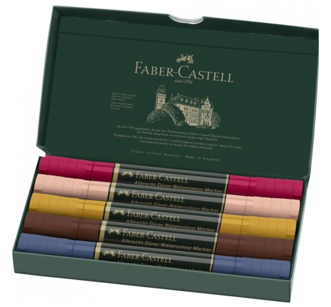Акварельные двухсторонние маркеры Faber-Castell Albrecht Durer Portrait 5 цветов 160307