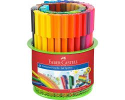 Фломастеры Faber-Castell 45 цв connector в метал сетке 155545