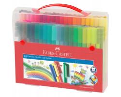 Фломастеры Faber-Castell Connector 80 цветов в платиковом чемодане 155579