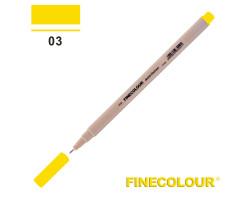Линер Finecolour Liner на водной основе 003 насыщенный желтый EF300-03