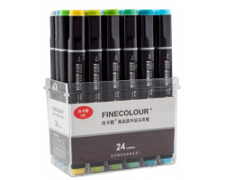 Набор маркеров Finecolour Brush 24 цвета EF102-TB24