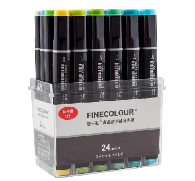 Набор маркеров Finecolour Brush 24 цвета EF102-TB24