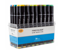 Набор маркеров Finecolour Brush 36 цветов EF102-TB36