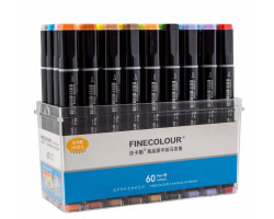 Набор маркеров Finecolour Brush 60 цветов EF102-TB60