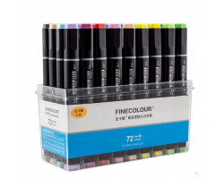 Набор маркеров Finecolour Brush 72 цвета EF102-TB72