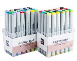 Набор маркеров Finecolour Junior 48 цветов EF101-TB48