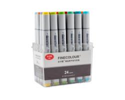 Набор маркеров Finecolour Sketchmarker 24 цвета EF100-TB24