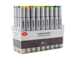 Набор маркеров Finecolour Sketchmarker 36 цветов EF100-TB36