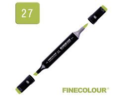 Маркер спиртовой Finecolour Brush 027 травянистый YG27