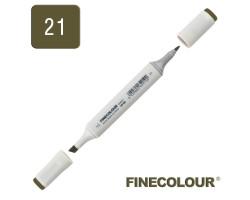 Маркер спиртовой Finecolour Sketchmarker 021 темный оливковый 21