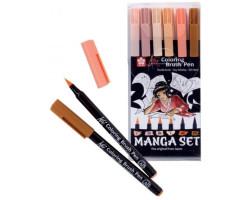 Набор маркеров KOI MANGA, 6 шт Sakura