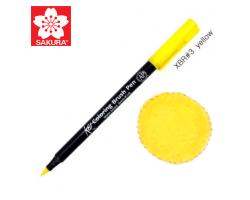 Маркер-кисточка акварельный KOI Sakura, Желтый №3