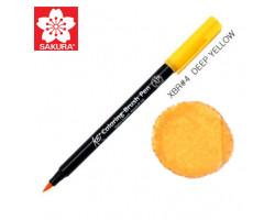 Маркер-кисточка акварельный KOI Sakura, Желтый темный №4
