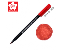Маркер-кисточка акварельный KOI Sakura, Красный №19