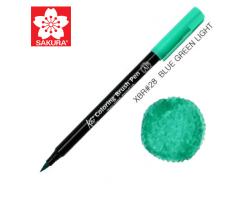 Маркер-кисточка акварельный KOI Sakura, Зелено-синий №28
