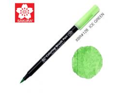 Маркер-кисточка акварельный KOI Sakura, Зеленый ледовый №128
