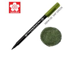 Маркер-кисточка акварельный KOI Sakura, Зеленый болотный №130