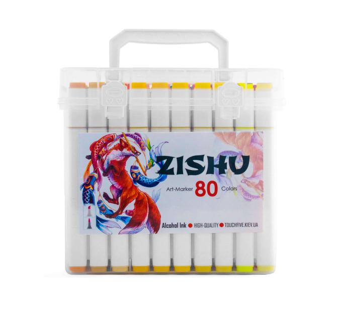 Маркеры ZISHU набор 80 шт + альбом А4