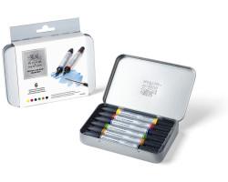 Маркеры акварельные Winsor & Newton Wotercolor Markers Set, 6 шт
