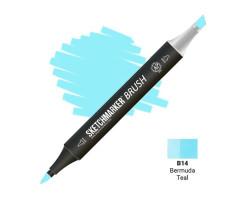 Маркер SketchMarker Brush кисть Бермудська бірюза SMB-B14