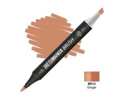 Маркер SketchMarker Brush кисть Імбір SMB-BR12
