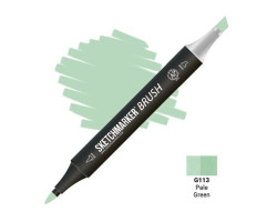 Маркер SketchMarker Brush кисть Блідо-зелений SMB-G113