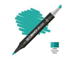 Маркер SketchMarker Brush кисть Бірюзово-зелений SMB-G152