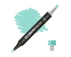 Маркер SketchMarker Brush кисть Арктичний блакитний SMB-G153