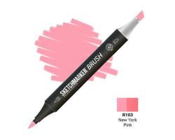 Маркер SketchMarker Brush кисть New York рожевий SMB-R103