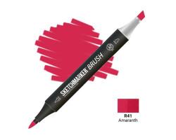 Маркер SketchMarker Brush кисть Амарант SMB-R41