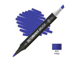 Маркер SketchMarker Brush кисть Індиго SMB-V11