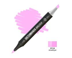 Маркер SketchMarker Brush кисть Аметист SMB-V114