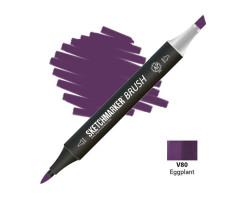 Маркер SketchMarker Brush кисть Баклажан SMB-V80