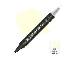 Маркер SketchMarker Brush кисть Біло-жовтий SMB-Y55