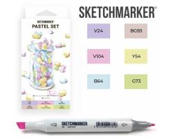 Маркеры для скетчинга SketchMarker набор 6 шт, Pastel, Пастельные тона SM-6PAST