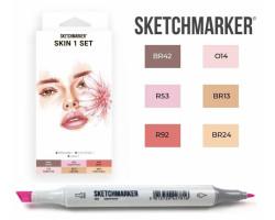 Маркеры для скетчинга SketchMarker набор 6 шт, Skin, Телесные SM-6SKIN1
