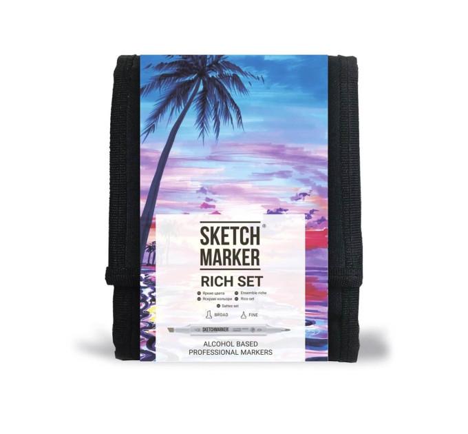 Набор маркеров SketchMarker Rich, Насыщенный 12 шт SM-12RICH
