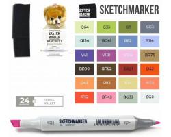 Маркеры для скетчинга SketchMarker набор 24 шт Basic 5 Базовые цвета 5 SM-24BAS5
