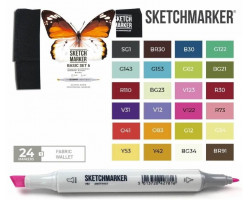 Маркеры для скетчинга SketchMarker набор 24 шт Basic 6 Базовые цвета 6, SM-24BAS6
