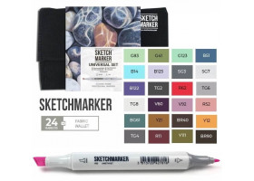 Маркеры для скетчинга SketchMarker набор 24 шт Universal, УниверсальныйSM-24UNI