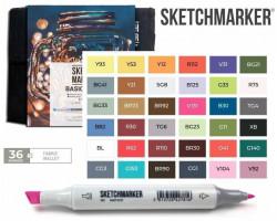 Маркеры для скетчинга SketchMarker набор 36 шт Basic 4 Базовые цвета 4, SM-36BAS4