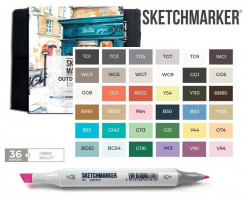 Маркеры для скетчинга SketchMarker набор 36 шт Outdoor, Пленэр SM-36OUTD