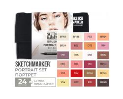 Набор маркеров SketchMarker Brush Портрет 24 шт, SMB-24PORT