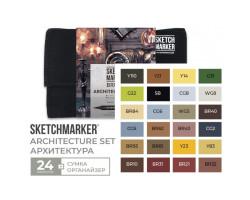 Набор маркеров SketchMarker Brush Архитектура 24 шт, SMB-24ARCH