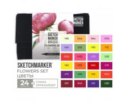 Набор маркеров SketchMarker Brush Цветы 24 шт, SMB-24FLOW